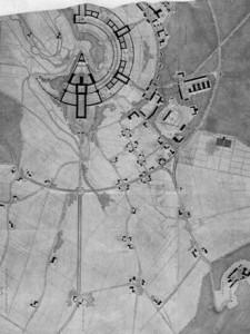 l piano costruttivo del castello di Wewelsburg a forma di Lancia di Longino