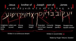 L'iscrizione sull'Ossario di Giacomo e la relativa traduzione