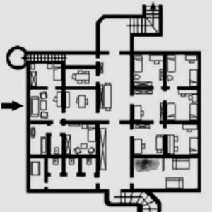 Planimetria del bunker di Hitler