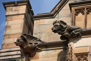 Gargoyle sulla struttura della University of Sydney, Australia