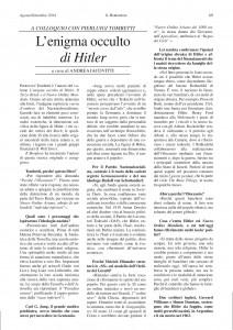 La prima pagina dell'intervista
