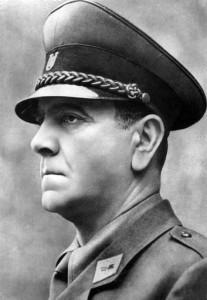 Una fotografia del criminale e dittatore croato Ante Pavelić