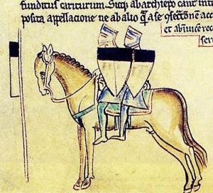 2 templari su un cavallo