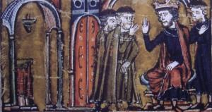 Baldovino II e Hugo de Payens