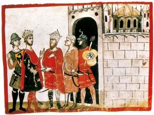 Federico II tratta la resa di Gerusalemme
