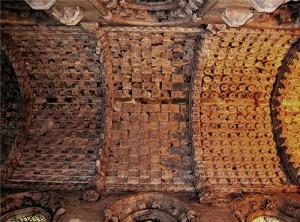 Le decorazioni del soffitto della Cappella