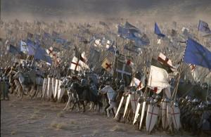cavalieri crociati in formazione