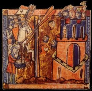 immagine della prima crociata da un codice medievale