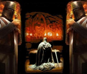 praying knight templar