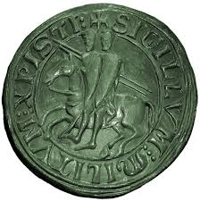 sigillo templare con due cavalieri sullo stesso cavallo