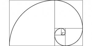 costruire la spirale aurea dai rettangoli aurei