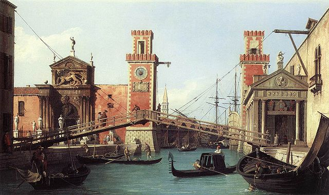 View of the Entrance to the Arsenal by Canaletto, (1732) (Public Domain)