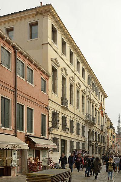 Facade of Palazzo Zeno Manin - Sceriman on the Rio Tera Lista di Spagna Venice. ( Wolfgang Moroder. /CC BY-SA 3.0)